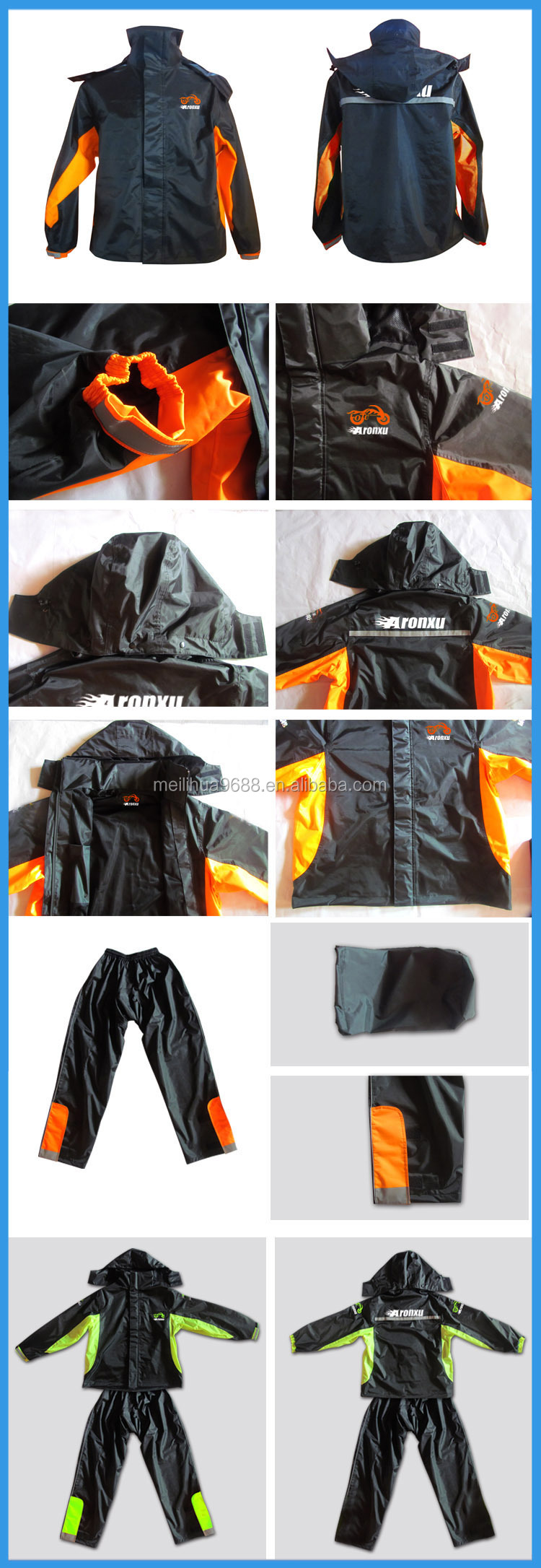 2015 Fashionable Blue PVC bike rain poncho