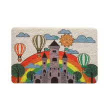 Factory promotion wholesaler multifunction cartoon printed PVC coil floor mat for children play