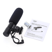 Mic-01 3.5mm Recording Microphone Digital SLR Camera Studio Stereo Microphone for Canon cameras