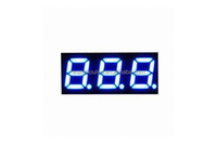 0.56 Inch Blue Color Three-digit 7 Segment LED Display, 24 Segments