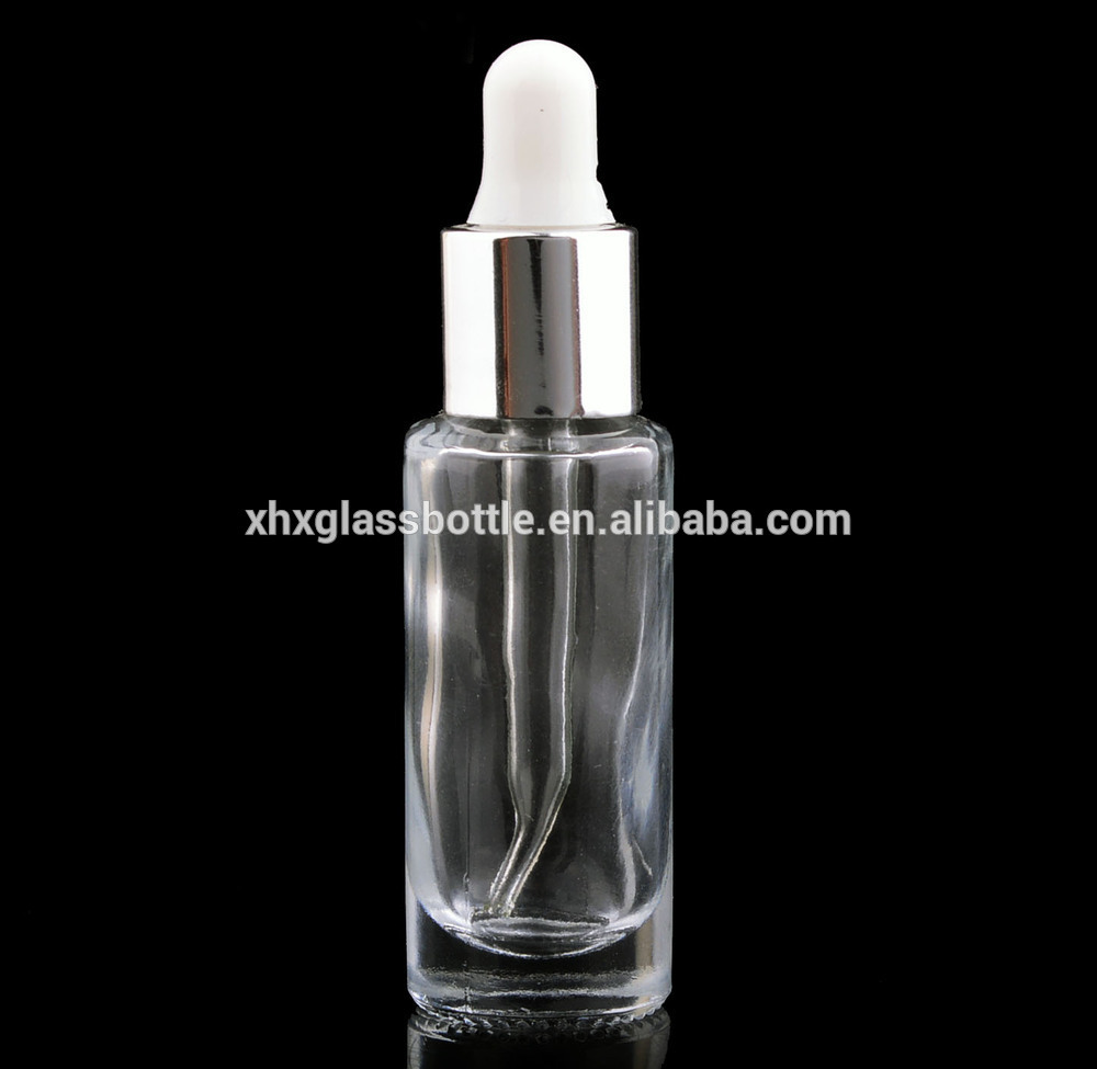 Chinese High Quality 10Ml 9Ml Round Tube Cylinder Shape Glass Essential Oil Dropper Bottle For Body Oil Cream