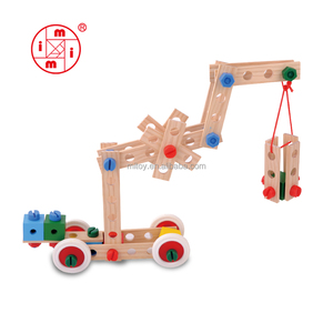 Solid wood good quality educational toys Train set