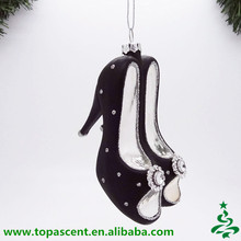 Christmas Decorations Hanging Glass black high heels shoes Christmas Ornaments
