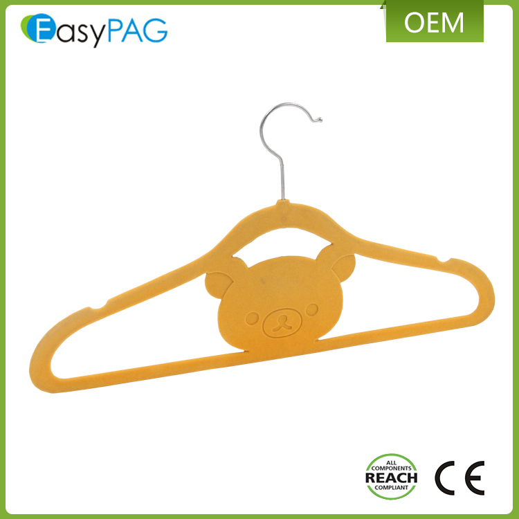 EasyPAG high quality durable cute yellow cloth hanger suit hangers