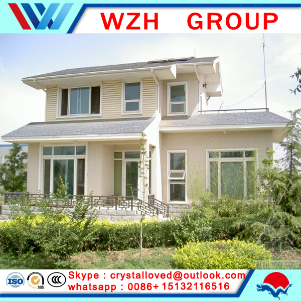 modern design light steel villa, luxury family homes from china supplier