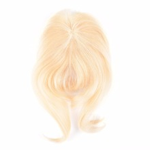 human hair blonde clip in hair fringe