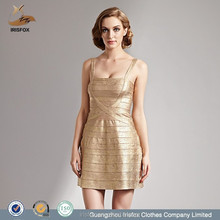 Factory Sexy Women Party Gold Elegant pregnant evening dress