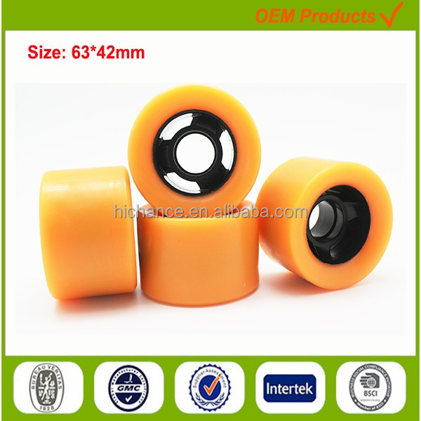 hard quad roller skate wheels 95A 80% rebound