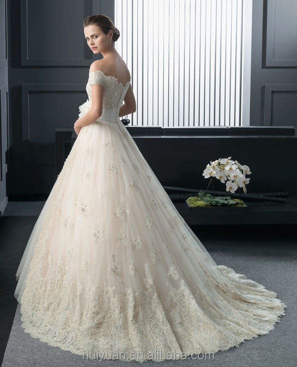 champagne elegant sweetheart neckline low cut lace wedding dress patterns