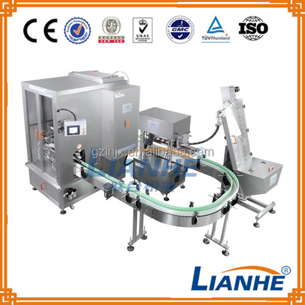 liquid detergent production line/auto glass filling capping machine