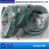 Oem Width Size Polyurethane High Wear Resistance Green Cloth On Teeth L Type Seamless Polyurethane Belt