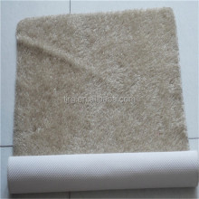 rubber backed plain silk shaggy cowhide rug