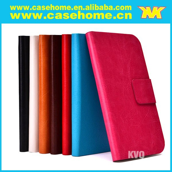 pu leather case for xiaomi mi2s , crazy horse leather mobile phone cases with smart window