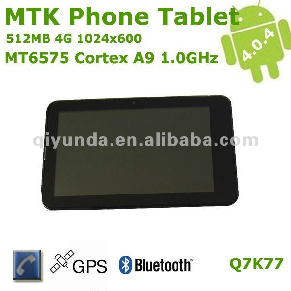 "MTK6575 7"" tablet gps 3g dual sim phones video call"