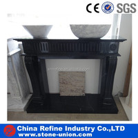 black marble stone indoor used fireplace