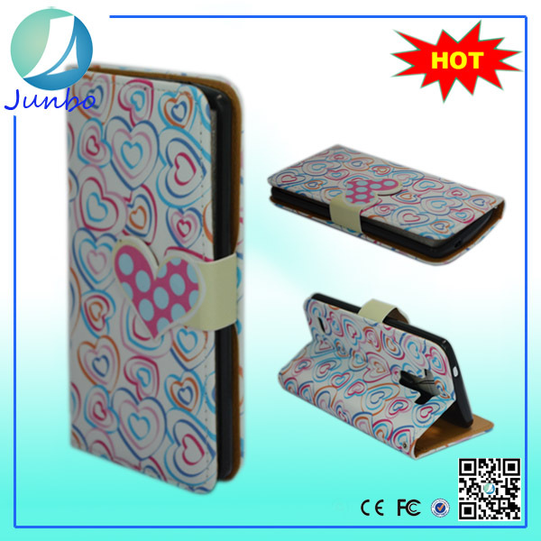 Wholesale innovative smart flip cover wallet leather case for lg optimus l3 e400