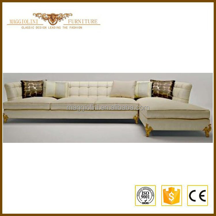 Low price comfortable modern white leather sectional sofa
