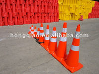 Cook Is. Reflective Flexible Orange PVC Road Traffic Safety Cone