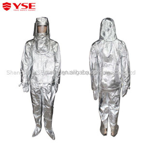 Heat preventing suit fire resistant coverall with aluminium