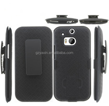Hybrid shockproof holster case cover for htc one m8 with belt clip