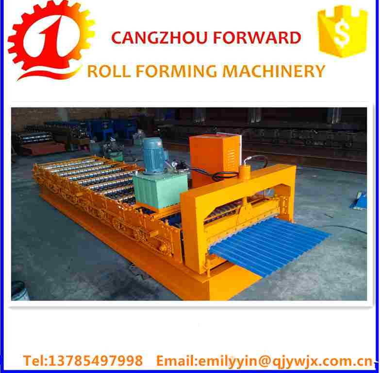 2016 HOT SALE Corrugation Galvanized Lamination Tiles Profiling Cold Roll Forming Machine