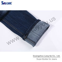 Premium Jeans with Broken Details Girls Jeans and Clothing for Women Name Brand Women Straight Jeans (LSWPC6018-7)