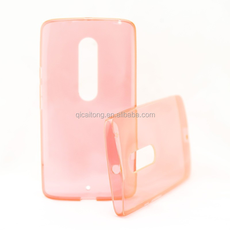 hot sale mobile phone transparent plain tpu gel case for Motorola Moto X Play