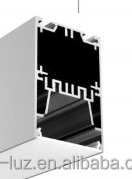 2 inches aluminum LED extrusion profiles with heat sink for pendent light