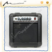 music equipment with acoustic guitar amplifier