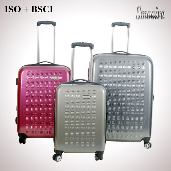 Distinct and generous style 100% PC trolley luggage