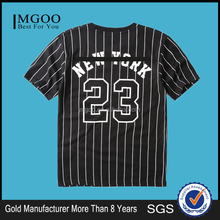 MGOO Hot Sale Cheap Price Black Stripe Korea T-shirt 6 Dollar Shirts Wholesale Viscose Tshirts
