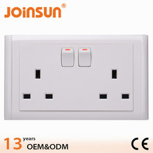 double 3 pin socket with switch CE outdoor power outlet