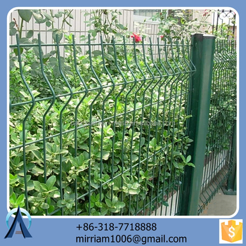 Made in China hot sale Hot dip v panel / 3d powder coated wire mesh panels / welded v panel
