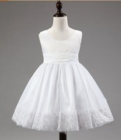 Baby Girls Flower Party Formal Christening Wedding Bridesmaid Party Dress with bow