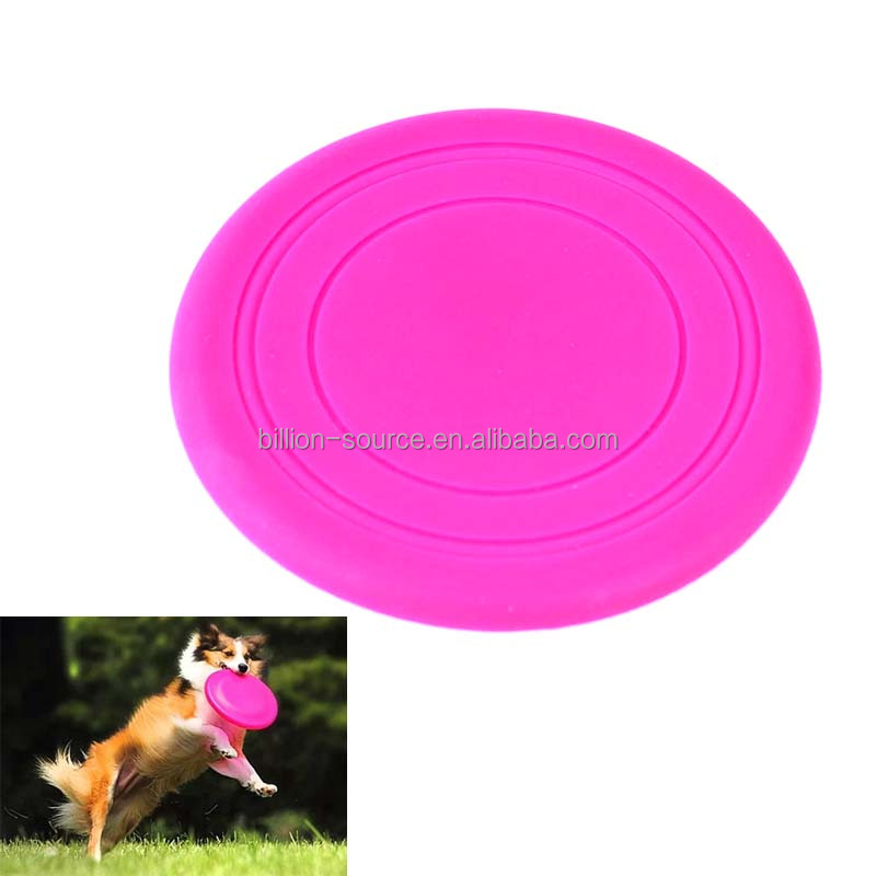 No-hurting the pet tooth silicone soft dog foldable frisbee