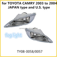 Halogen fog lamp for TOYOTA CAMRY 2003 to 2004 JAPAN type and U.S. type body kit favorable price