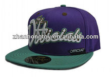 2013 new design custom flat peak baseball cap for sale