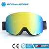 High quality anti-fog motorcycle goggles gold mirror mx goggles