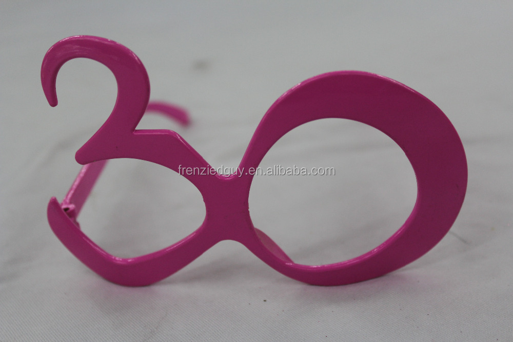 Novelty 30 age birthday number party sunglasses FGGS-0294