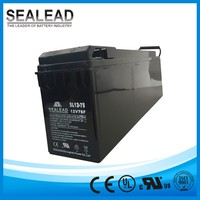 flecibility design 12v 75ah front terminal battery for Water tanks cooling system