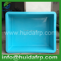 China Huida customized designed Fiberglass FRP preformed koi fish ponds and stock tanks