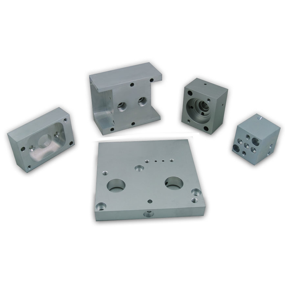 solid aluminum blocks