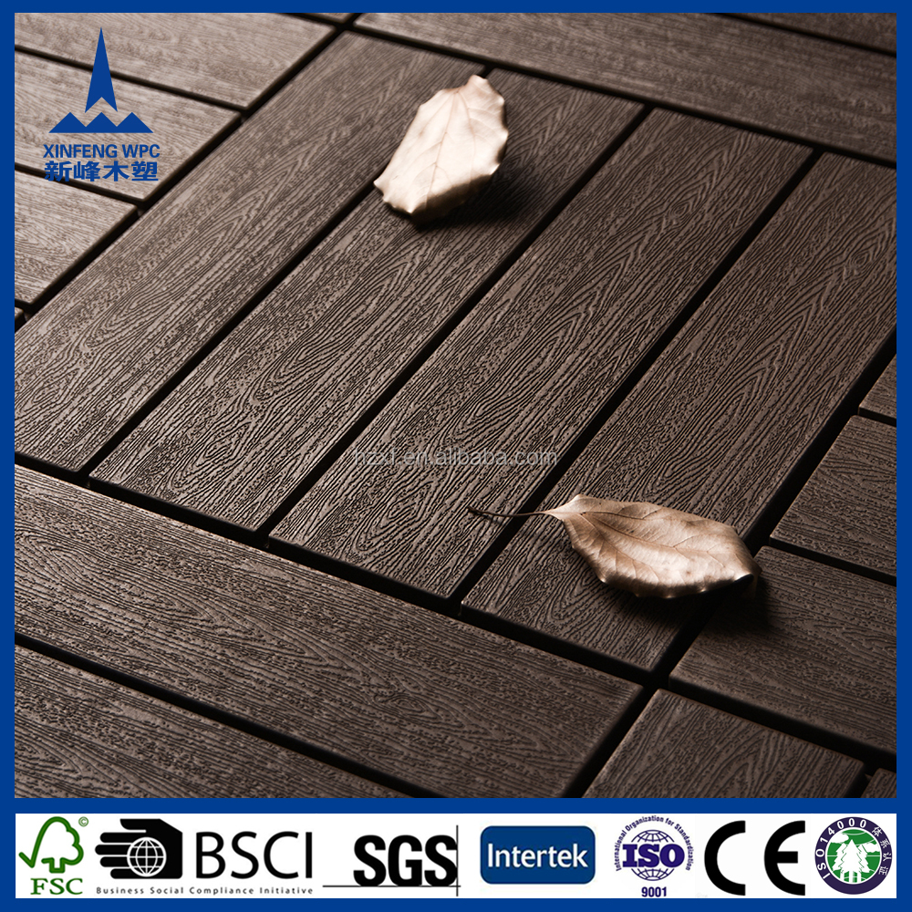 Recycled waterproof building material rich wpc wood