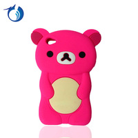 Colored 3D Cute Animal Silicon Cartoon Case For iPod Touch 4