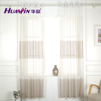 embroidery curtain fabric embroidery fabric White embroidered curtain