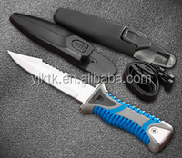Scuba Diving Snorkeling Sharp Tip Stainless Steel Knife With Sheath,Survive Knife, Hunting Knife