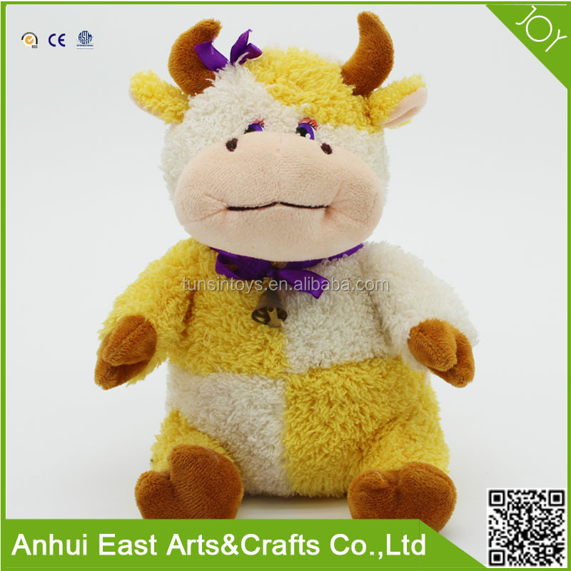 WHOLESALE EXCELLENT LOVELY VERY SOFT PLUSH STUFFED COW TOY FOR BABY