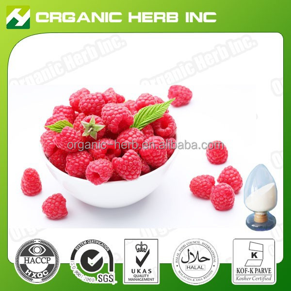 100% Natural Ketones Anthocyanidins Red Raspberry Extract powder