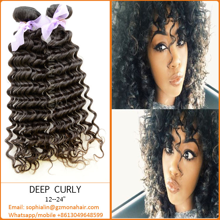 Good hand feeling tangle free virgin human hair natural color without chemical processed eurasian exotic wave hair