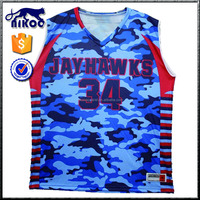 digital printed camouflage basketball jersey and shorts